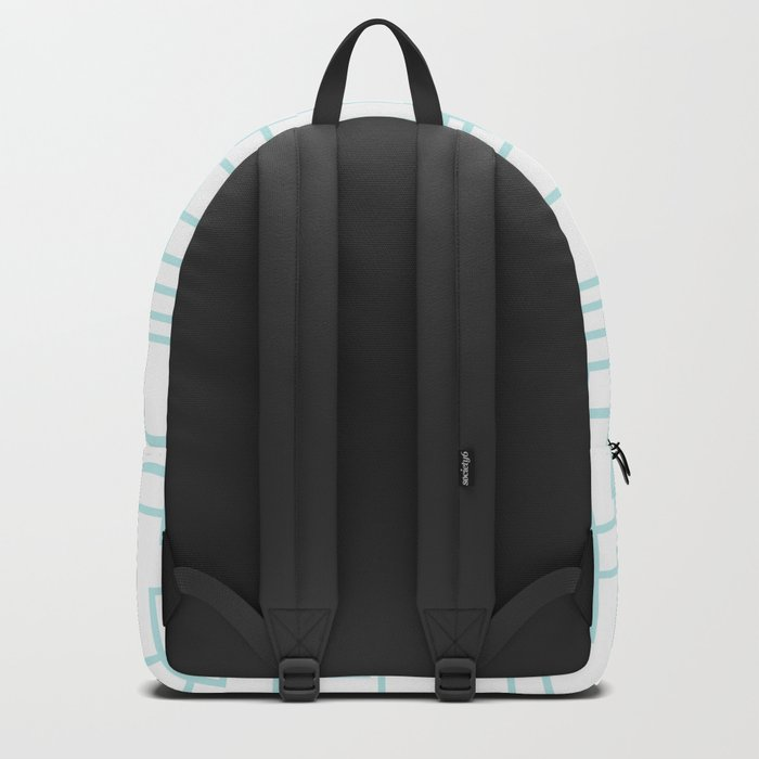 Geometric abstract pattern - light aqua Backpack