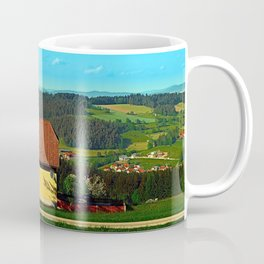 Small farm with built-in panoramic view Coffee Mug