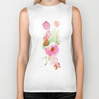 band Biker Tanks featuring Floral Band by Mai Autumn