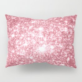 Pink Sparkle Stars Pillow Sham
