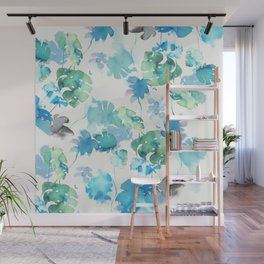 green tropical. collab dylan silva and francisco fonseca Wall Mural