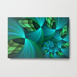 Gently Worn, Modern Fractal Art Fantasy Metal Print