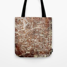 17-Washington West Columbia 1945, vintage map Tote Bag