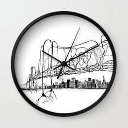 Neuron Bridge Wall Clock