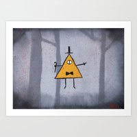 bill cipher Art Prints featuring Bill Cipher by Ryn-the-Obsessed