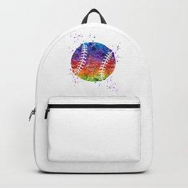 Baseball Ball Baseball Player Art Colorful Watercolor Art Gift Sports Artwork Backpack