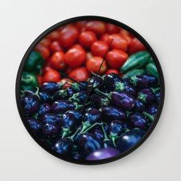 vegetables #society6 #decor #buyart Wall Clock