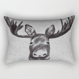 Beautiful Moose Head Design Rectangular Pillow