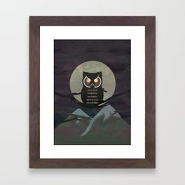 The owls are not what they seem. (Twin Peaks) Framed Art Print