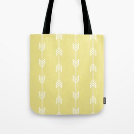 Running Arrows in White and Yellow Tote Bag