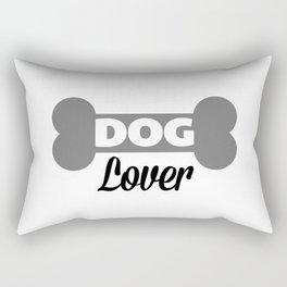 Dog Lover Quote Rectangular Pillow