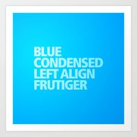 MetaType Blue Art Print