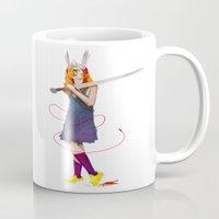 sword Mugs featuring Sword Maiden by Dan Robinson Miller