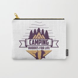 Camping Buddies For Life Shirt Funny outdoor shirt vintage Camping life Funny Gift ideas For Friends Carry-All Pouch