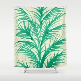 Mint Palms Shower Curtain