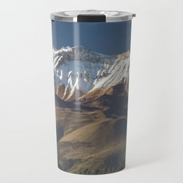 Volcano Chachani near city of Arequipa in Peru Travel Mug