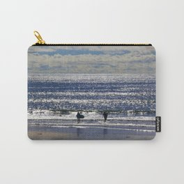 Blue Wave Surfer Girls by Reay of Light Carry-All Pouch