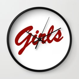 girls 2 Wall Clock