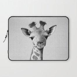 Baby Giraffe - Black & White Laptop Sleeve