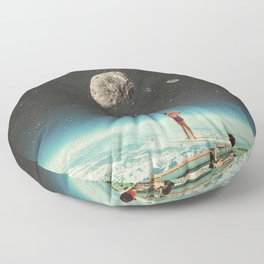 Summer with a Chance of Asteroids Floor Pillow