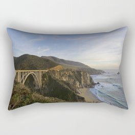 Bixby Bridge at Big Sur Rectangular Pillow