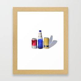 Primary Beers Framed Art Print