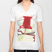 paper towns V-neck T-shirts featuring Paper Towns by Dreki
