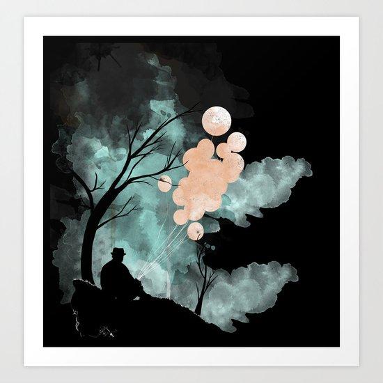 Hush (Alt colors) Art Print