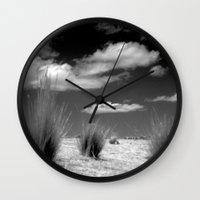 peru Wall Clocks featuring Peru Jouney NO1 by Julia Aufschnaiter
