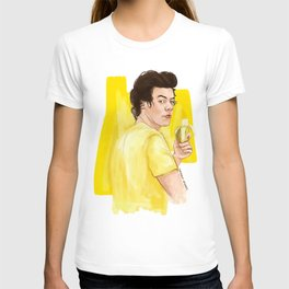 Harry is all yellow T-shirt