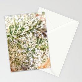 Top Shelf Indoor Skywalker OG Kush Close Up Buds Trichomes View Stationery Cards