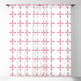 Hand Drawn Flower Pattern Brush Graphic Artwork Honeysuckle Love Blackout Curtain