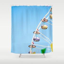 Manege sky colour Shower Curtain