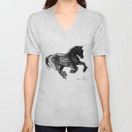 Horse (Devil cantering) Unisex V-Neck