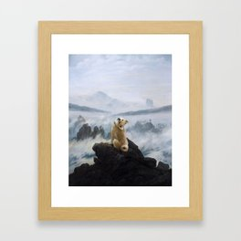The Wanderer Above the Sea of Doge Framed Art Print