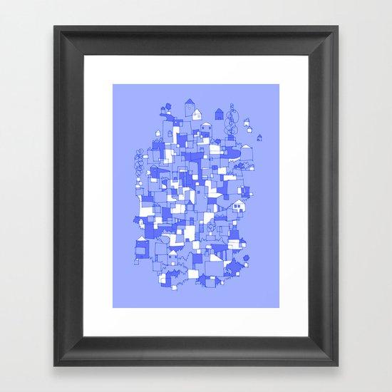 Floating Village Framed Art Print