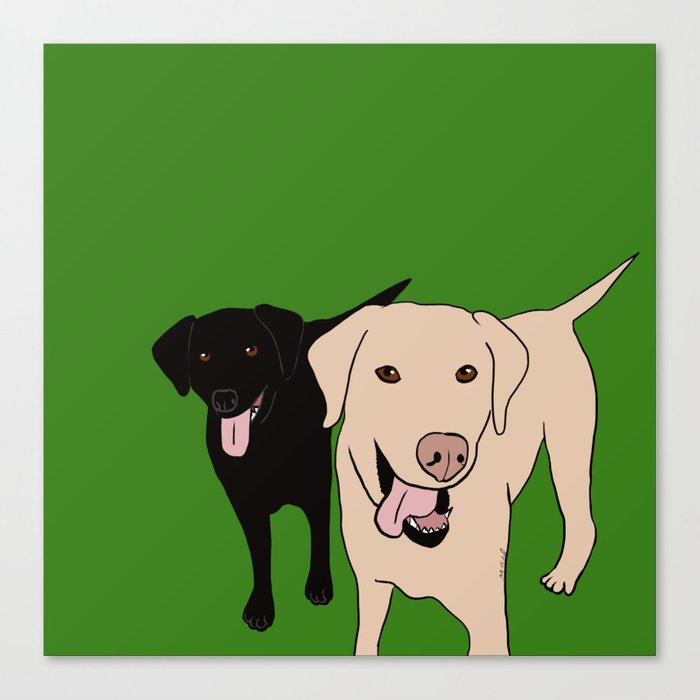 Tanner and Lily Best Labrador Buddies Canvas Print