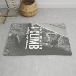 Climbing Nothing Else Matters Climbers Rock Wall Sport Rug