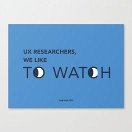 UX Researchers Canvas Print