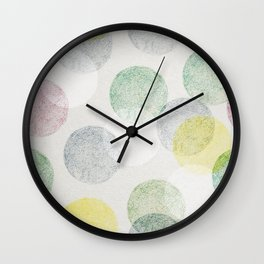 Colorful retro balls seamless pattern Wall Clock