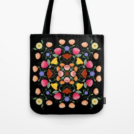 Folk Art Inspired Garden Of Fantastic Floral Delight Tote Bag