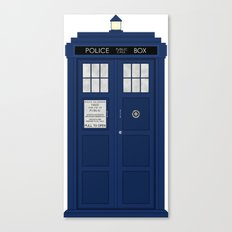 Doctor Who's Tardis Canvas Print