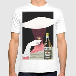1950 Linherr Vermouth Bianco Aperitif Vintage Poster by arthur Ziegler T-shirt