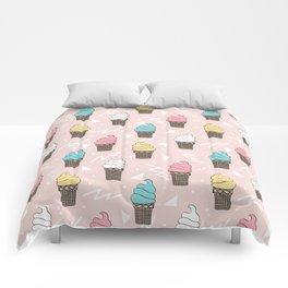Ice cream dole whip rad geometric dessert treats pattern by andrea lauren Comforters