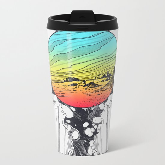 Filtering Reality Metal Travel Mug