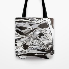 Untitled Bird Design Tote Bag