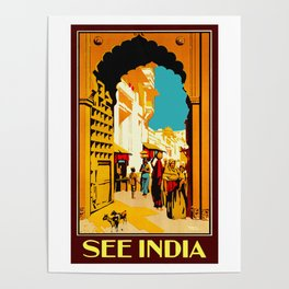 See India - Vintage Travel Poster