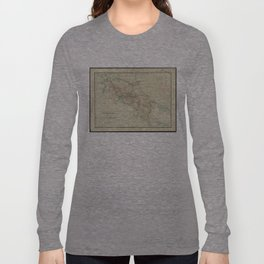 Vintage Map of Costa Rica (1903) Long Sleeve T-shirt