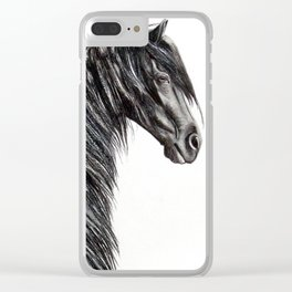 Friesian Stallion Wietze Clear iPhone Case