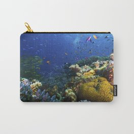 Coral Sea Photo Print Carry-All Pouch